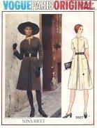 Vintage Vogue Paris Original sewing Pattern designer Nina Ricci #2527 dress size 16, B18