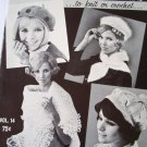 Stoles, Hats, Scarfs to knit or crochet Vol 14 Fleisher vintage