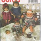 "Uncut Burda 3890 Doll Clothes Pattern 3 sizes 12-14"" / 16-18"" / 20-22"""
