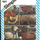 UNCUT Goose, Hen, Pig, flower Marjorie Puckettn pattern 6148 Simplicity stuffed animals