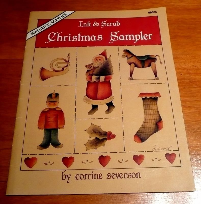 Tole decorative painting book Ink & Scrub Christmas Sampler Corrine Severson