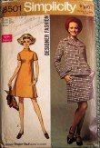 Vintage Simplicity 8501 designer sewing pattern dress jacket