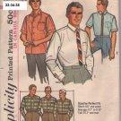 Vintage Men's shirt pattern Simplicity 5689 size 16