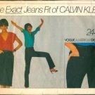 Vintage Vogue Calvin Klein Jeans & Skirt Pattern 2442 Size 8