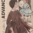 Advance Pattern 9543 Girl's Size 7 Dress Vintage complete