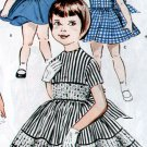 Vintage Butterick 9351 Girl's Dress pattern Size 4
