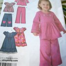 Simplicity 4107 Toddler's Pants, Gauchos, Dress, Tunic Girls