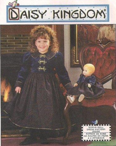 Daisy Kingdom Dress & Doll Dress pattern UNCUT 7348 Simplicity