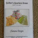 Quilter's Quarters Dress Pattern Size 1 2 3 years Girls Chanana Designs