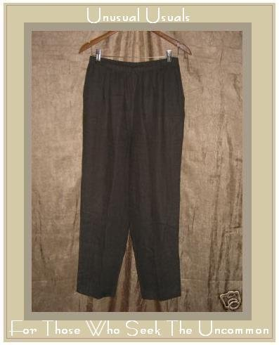 ALYWEAR Dark Gray LINEN PANTS Long ALY WEAR Medium M