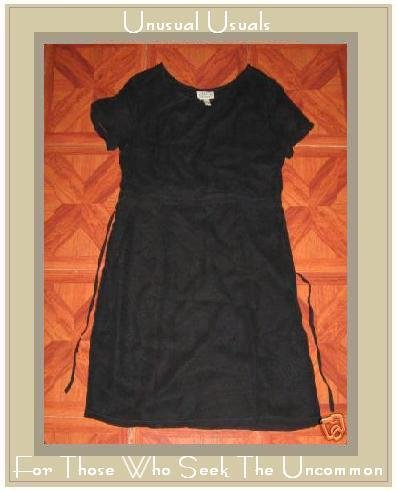 Fabulous Lined Black PUTUMAYO Baby Doll Dress SMALL S