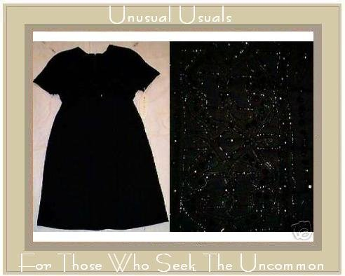 Little Black Art Deco Beaded Dress by MARIANNA NWT SZ 8 MEDIUM