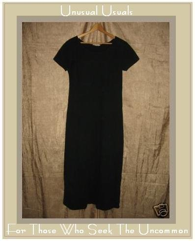 CLOTHESPIN Funky Boutique Textured Cotton Dress Black LARGE L