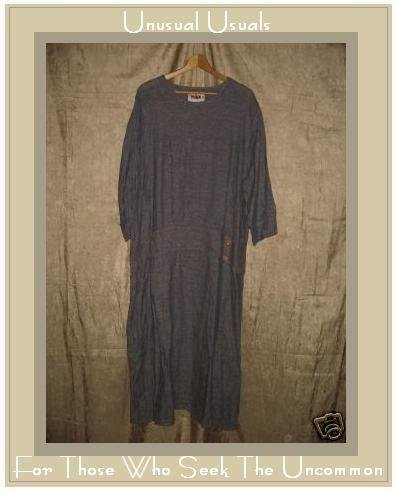 FLAX Purple Twenties Theme Dress Jeanne Engelhart LARGE L