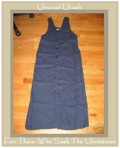 FLAX BlueButton Dress by Jeanne Engelhart PETITE P