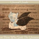 Fairy Puppy FOLK ART TOY Doll Paper DOG PUPPET aceo atc