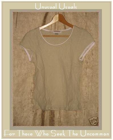 SOLITAIRE Linen Bias Cut Pullover Shirt Top X-Small XS