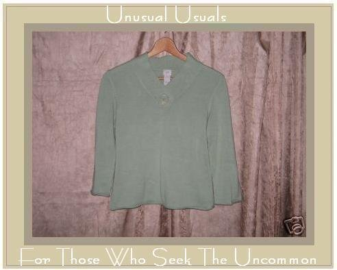 J. JILL Soft Green Cotton Knit Shirt Top XSP PETITE XS