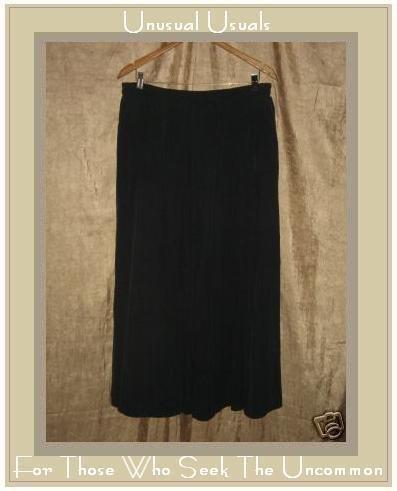 APRIL CORNELL Long & Full Black Silk Skirt MEDIUM M
