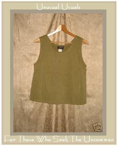 KINDRED SPIRIT Textured Tencel Shell Tank Shirt Top MEDIUM M