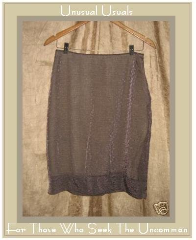 hype atelier Embroidered Lavender Knee Skirt Large L