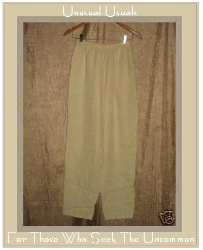 WILLOW Boutique Yellow LINEN Straight Pants Medium M