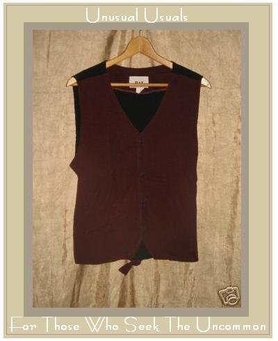 FLAX by Jeanne Engelhart Berry Cotton Corduroy Vest MEDIUM M