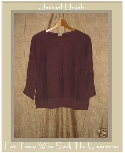 J. JILL Dark Berry Cotton Knit Pullover Shirt Top MEDIUM M