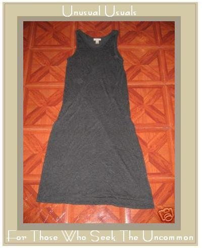 J. JILL LONG & LOVELY SOFT GRAY RAYON KNIT DRESS SMALL S
