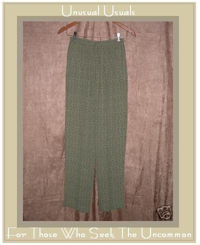NWT April Cornell Leafy Green Rayon Drawstring Pants XS