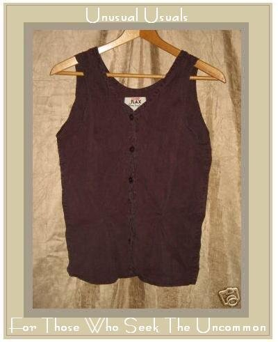 FLAX Berry Shapely Silk Shirt Top by Jeanne Engelhart SMALL S