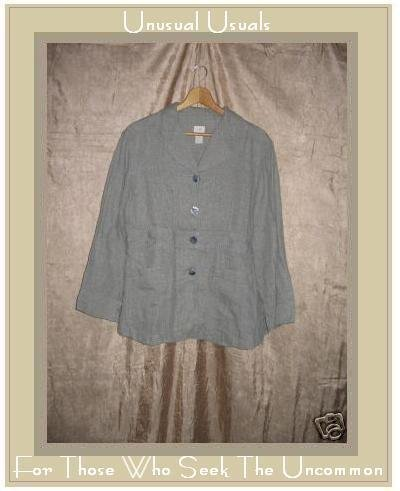 J. Jill Shapely Button Jacket Top Hemp Petite 10 10P M