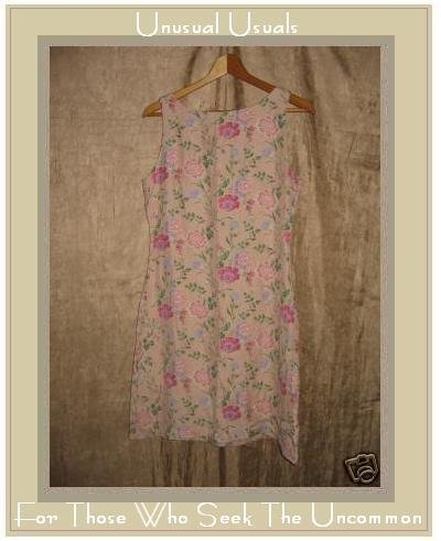 April Cornell Soft Pink Silk Floral Dress Size 2 Small S