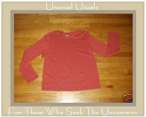 J. JILL Soft Gray Cotton Knit Pullover Shirt Top Large L
