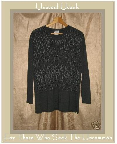 FABULOUS KNIT HAREM TUNIC TOP SHIRT MARIO & GENA PARIS MEDIUM M