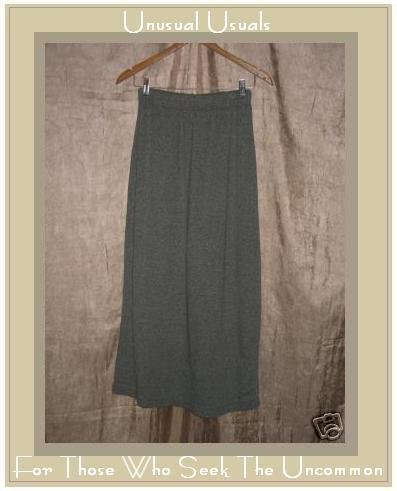 WILLOW Boutique Soft Long Gray Skirt Cotton Rayon Small S
