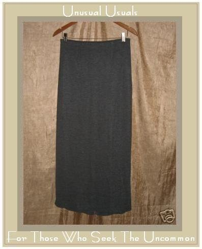 Clothespin Boutique Long & Full Gray Knit Skirt Small S