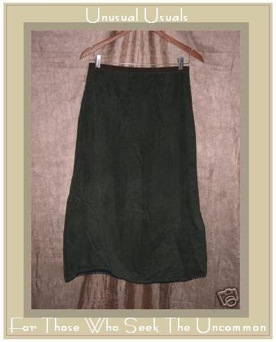 Neesh by D.A.R. Funky Green Leaves Corduroy Skirt Small S