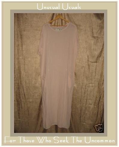 Angelheart Designs by Jeanne Engelhart Pink Dress Flax MEDIUM M