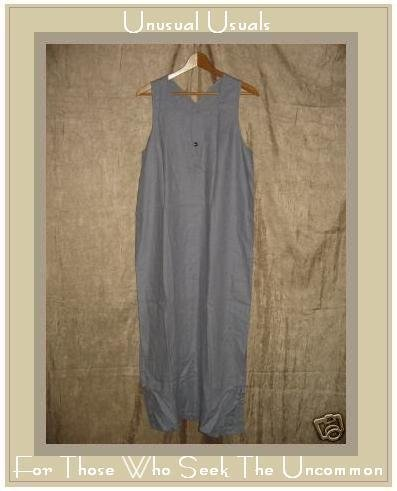 J. Jill Long Lavender LINEN Jumper Jump Dress Medium M