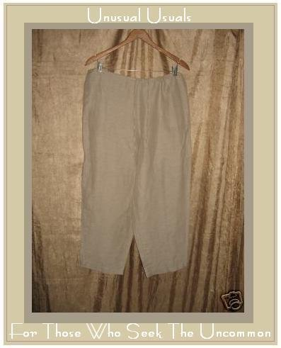 New Chico's Design Linen Silk Barbados Crop Pants Size 2