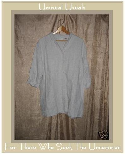 Crossroads Natural Linen Button Shirt Top Size Large L