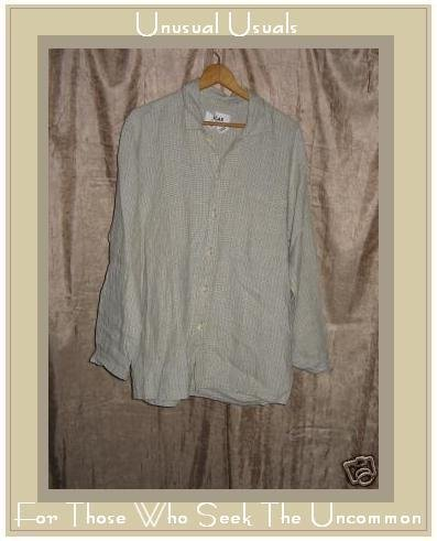 FLAX by Jeanne Engelhart LINEN Button Shirt Top Petite P