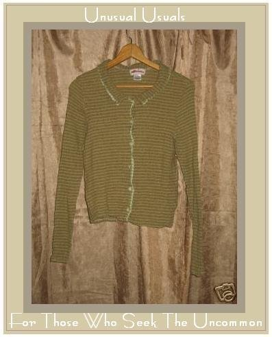 SOLITAIRE Puckered Stretch LINEN Button Shirt Large L