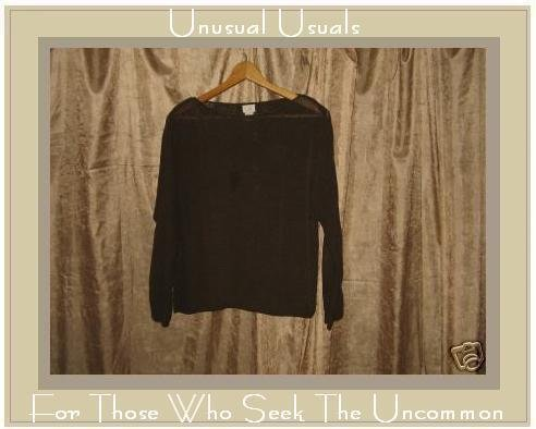 J. JILL Brown Silk Pullover Sweater Shirt Top Medium MP