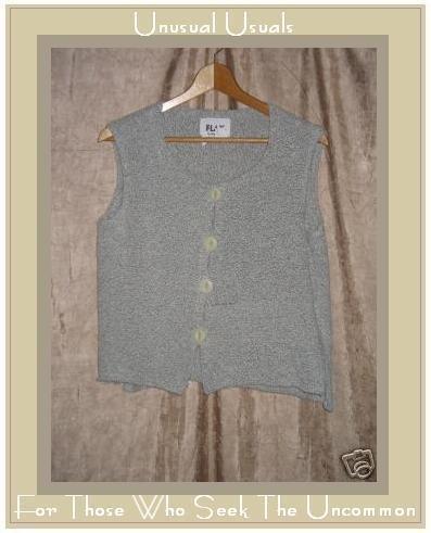 FLAX by ANGELHEART Soft Gray Sweater Jeanne Engelhart SMALL S MEDIUM M