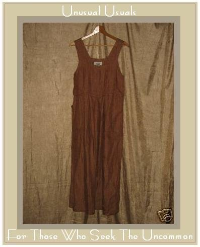 FLAX by Jeanne Engelhart Earthy LINEN Weave Jump Dress PETITE P