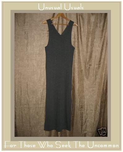 CHICO'S DESIGN Long Soft Gray Stripe Knit Jump Dress XS X-SMALL