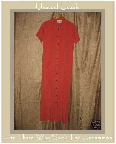 DRESSES by DAVID DART Long Pink Button Dress Small S