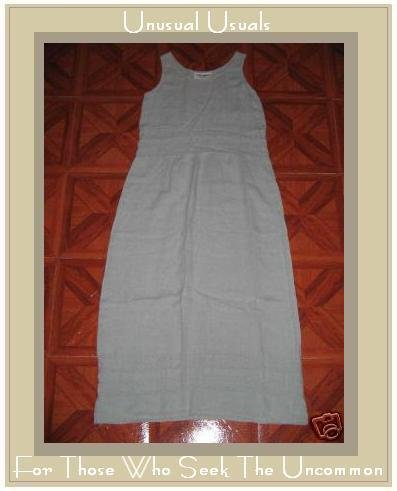 CUTE ALYWEAR TEXTURED LINEN DRESS ALY WEAR SIZE SMALL S